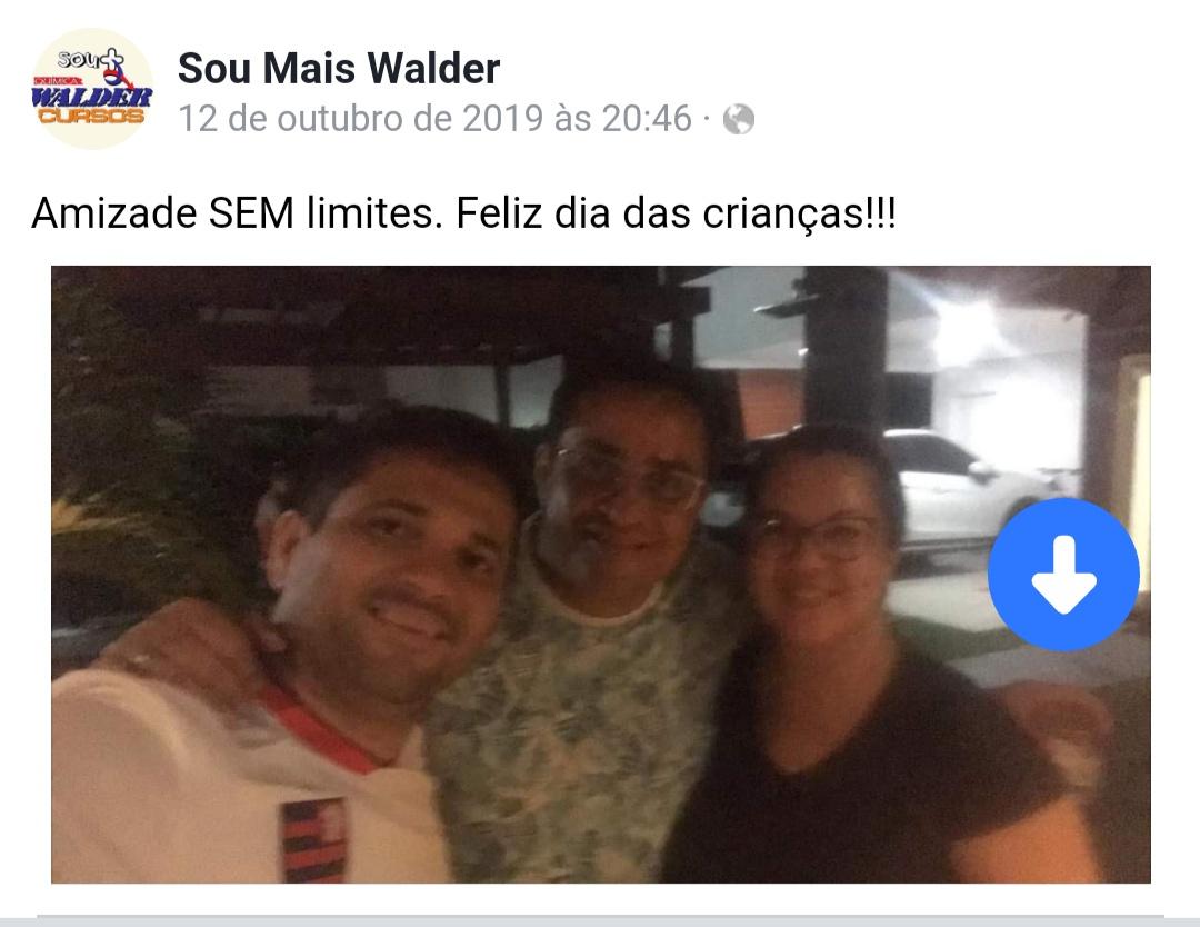 Major Walder ao lado do chefe da PM Marcos Sampaio