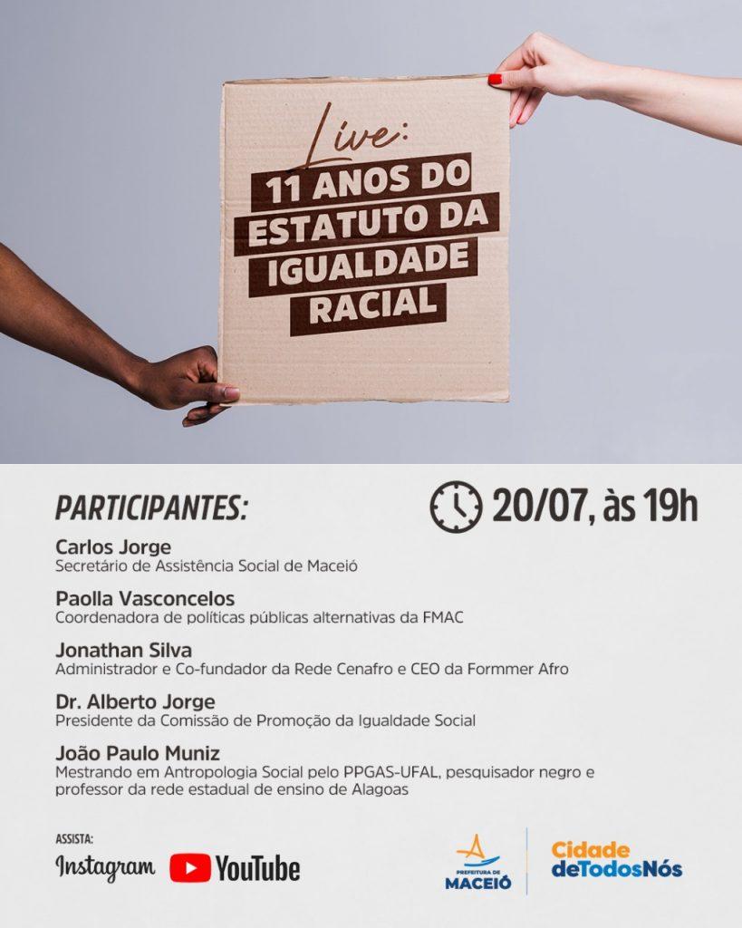 Live: Promoção à Igualdade Racial